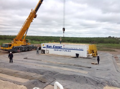 Sun Coast Resources new Barnhart, Texas facility in construction.